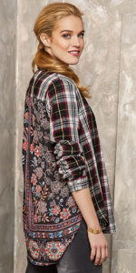 Tribal Checked Shirt with Back Detail